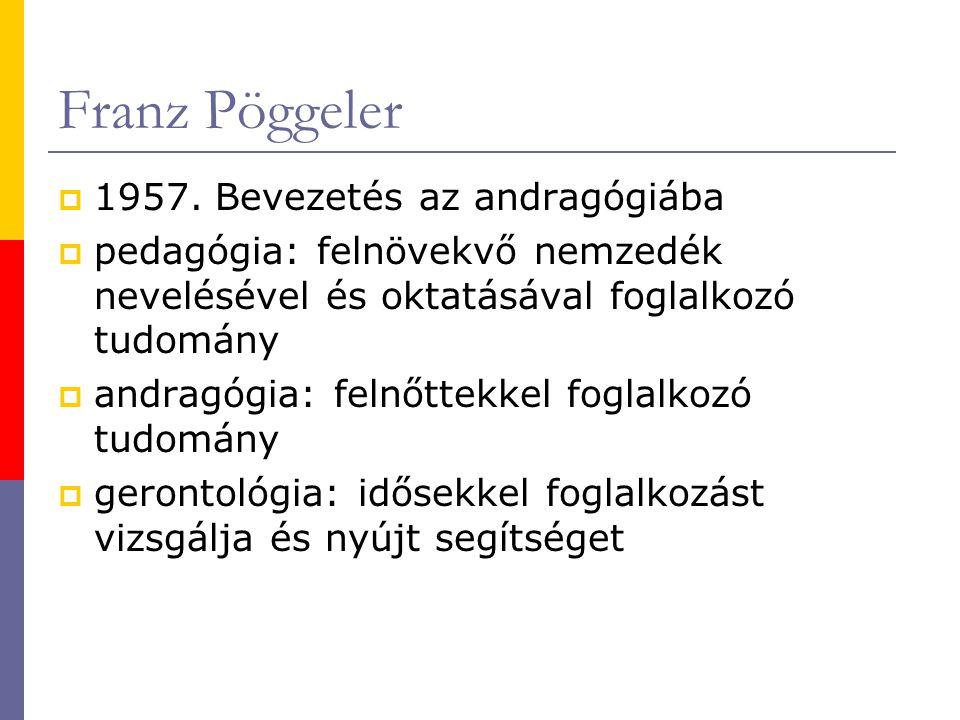 Franz Pöggeler 1957. Bevezetés az andragógiába