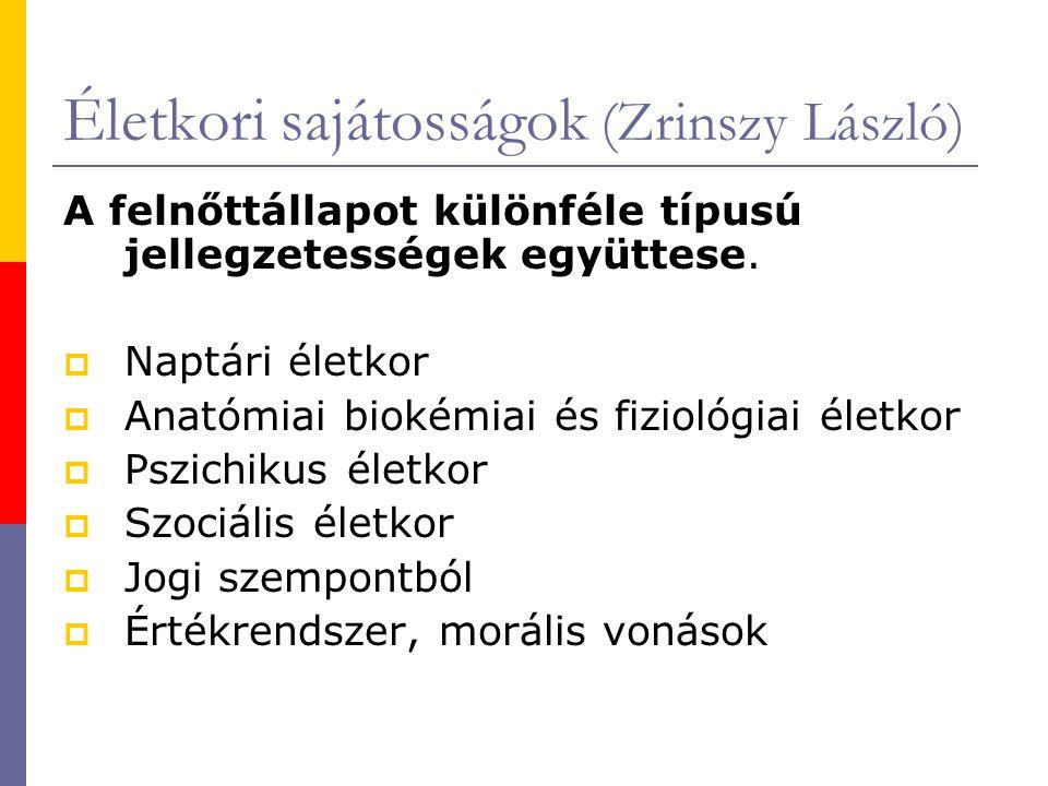Életkori sajátosságok (Zrinszy László)