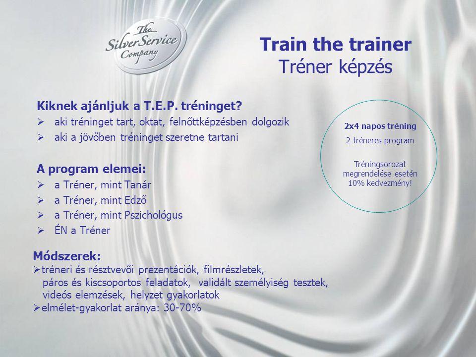 Train the trainer Tréner képzés