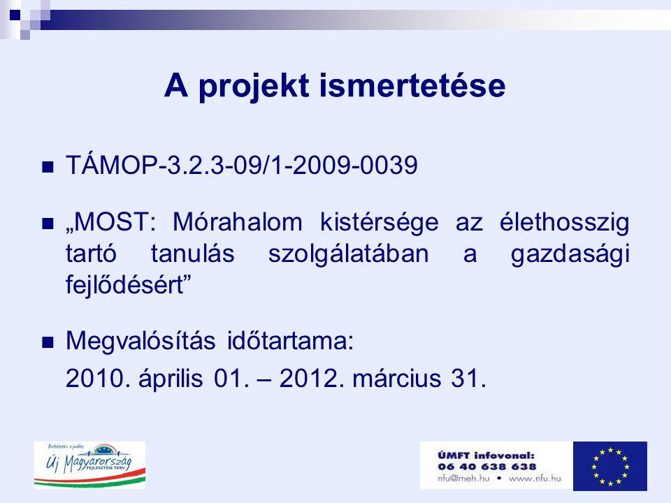 A projekt ismertetése TÁMOP-3.2.3-09/1-2009-0039