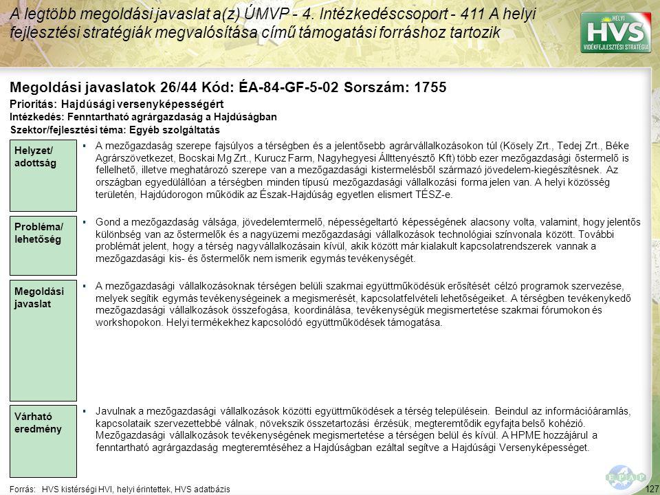 Megoldási javaslatok 26/44 Kód: ÉA-84-GF-5-02 Sorszám: 1755