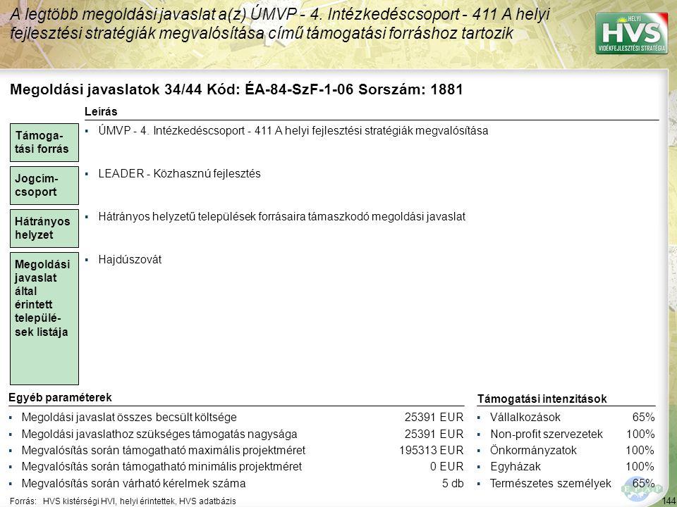 Megoldási javaslatok 35/44 Kód: ÉA-84-SzF-A-15 Sorszám: 1760