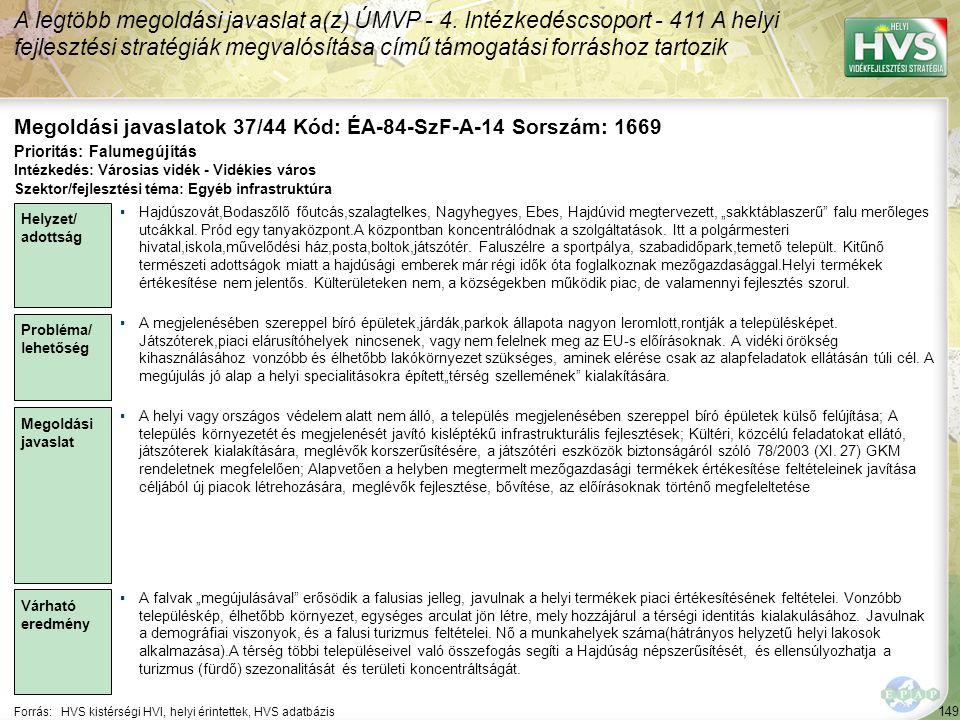 Megoldási javaslatok 37/44 Kód: ÉA-84-SzF-A-14 Sorszám: 1669