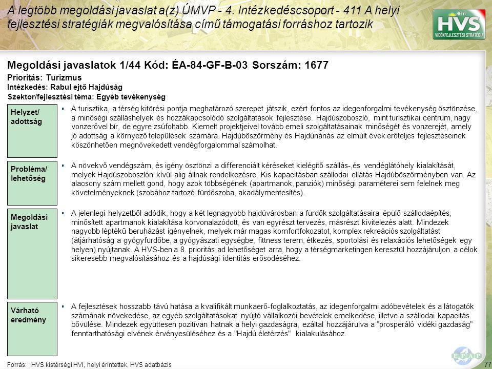 Megoldási javaslatok 1/44 Kód: ÉA-84-GF-B-03 Sorszám: 1677