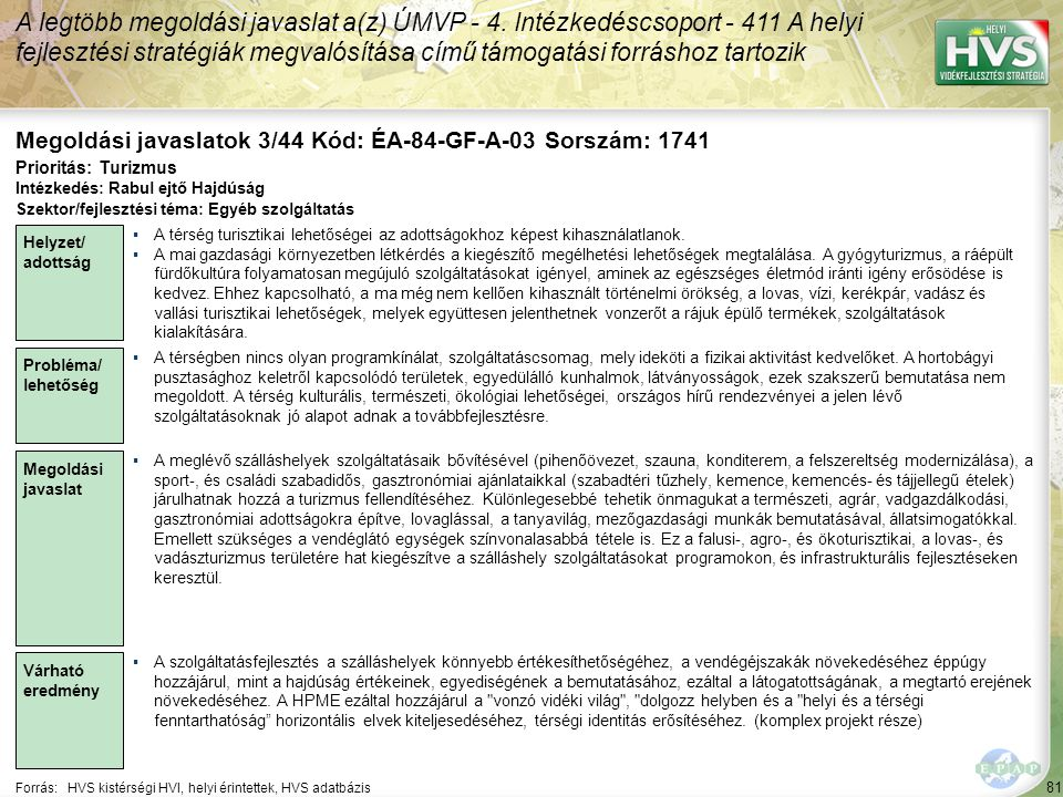 Megoldási javaslatok 3/44 Kód: ÉA-84-GF-A-03 Sorszám: 1741