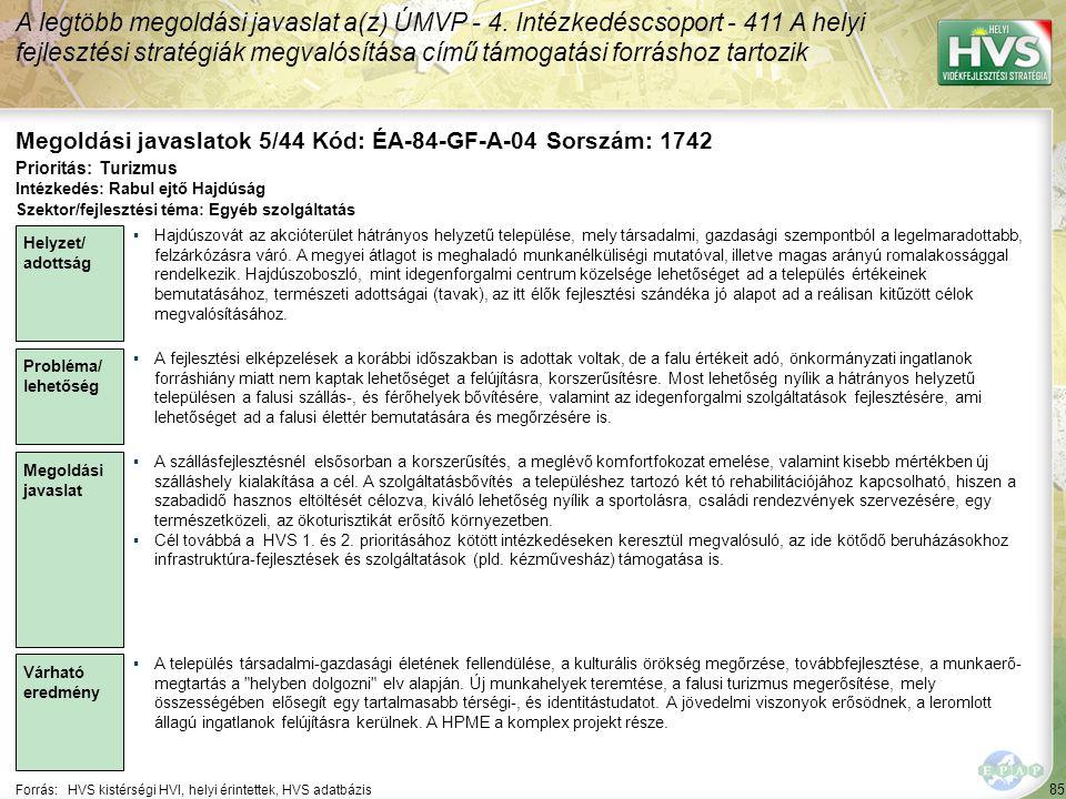 Megoldási javaslatok 5/44 Kód: ÉA-84-GF-A-04 Sorszám: 1742