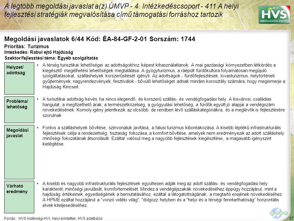 Megoldási javaslatok 6/44 Kód: ÉA-84-GF-2-01 Sorszám: 1744