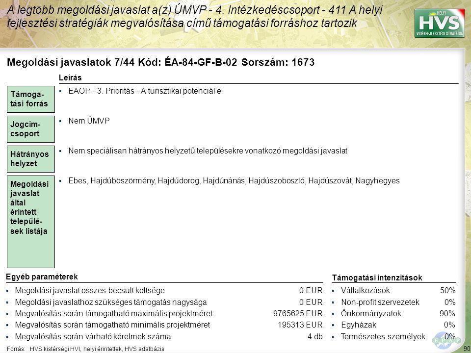 Megoldási javaslatok 8/44 Kód: ÉA-84-SzF-B-07 Sorszám: 1809