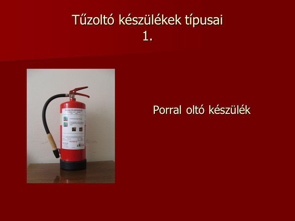 Tűzoltó készülékek típusai 1.