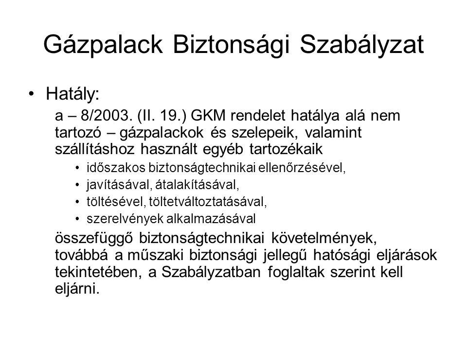 Gázpalack Biztonsági Szabályzat