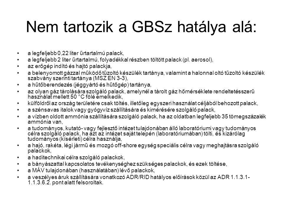 Nem tartozik a GBSz hatálya alá: