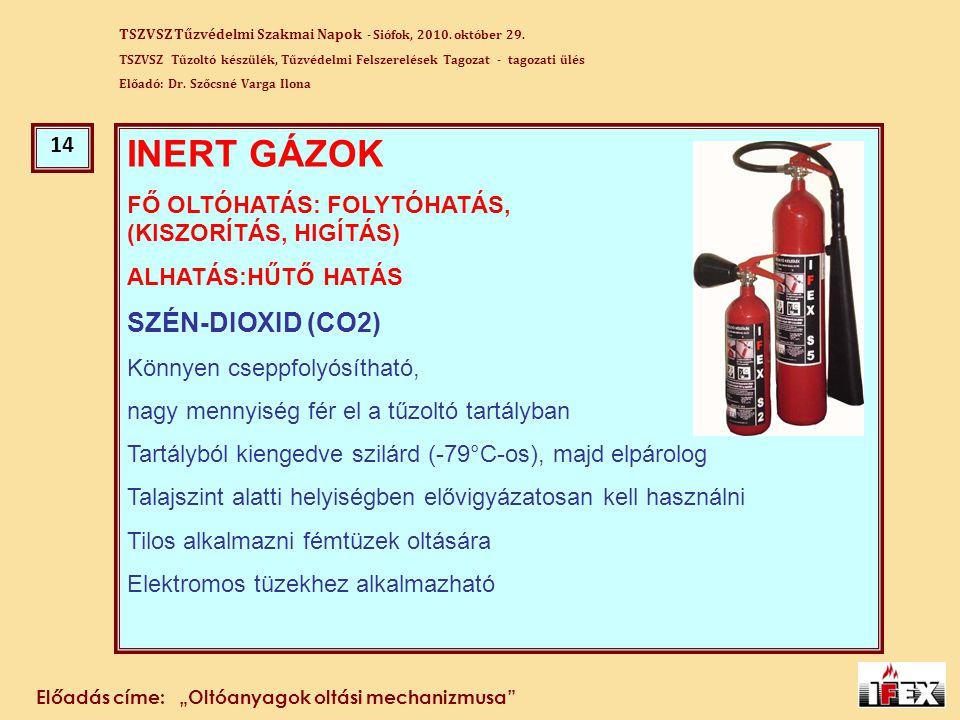 INERT GÁZOK SZÉN-DIOXID (CO2) 14