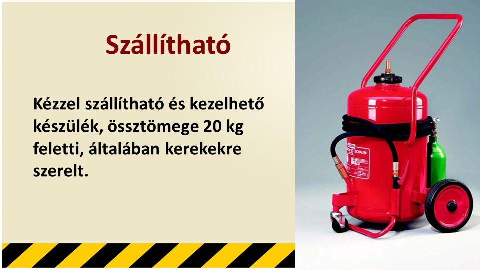 Szállítható Kézzel szállítható és kezelhető készülék, össztömege 20 kg