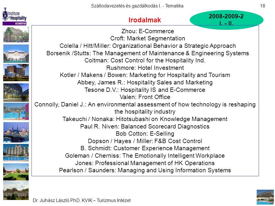 Irodalmak 2008-2009-2 I. - II. Zhou: E-Commerce