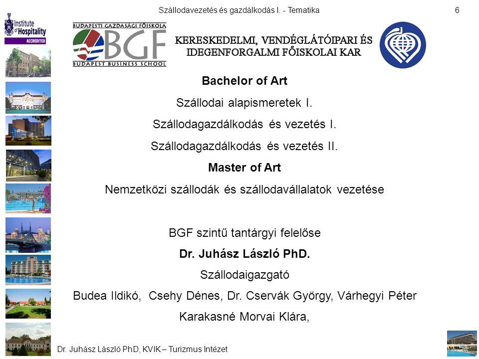 Bachelor of Art Master of Art Dr. Juhász László PhD.