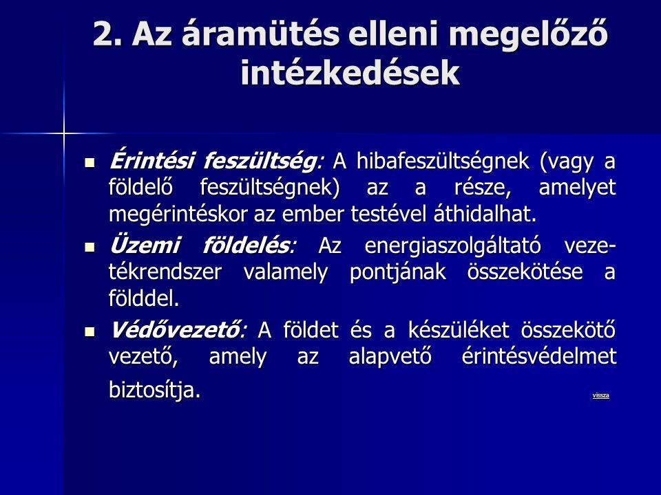 2. Az áramütés elleni megelőző intézkedések