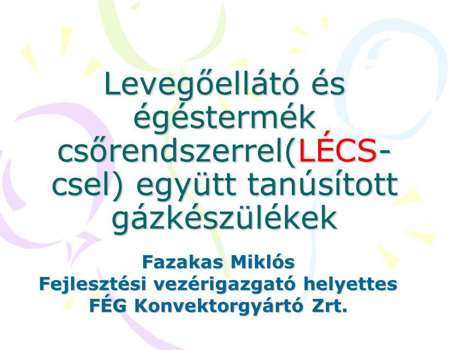 Fejlesztési vezérigazgató helyettes FÉG Konvektorgyártó Zrt.