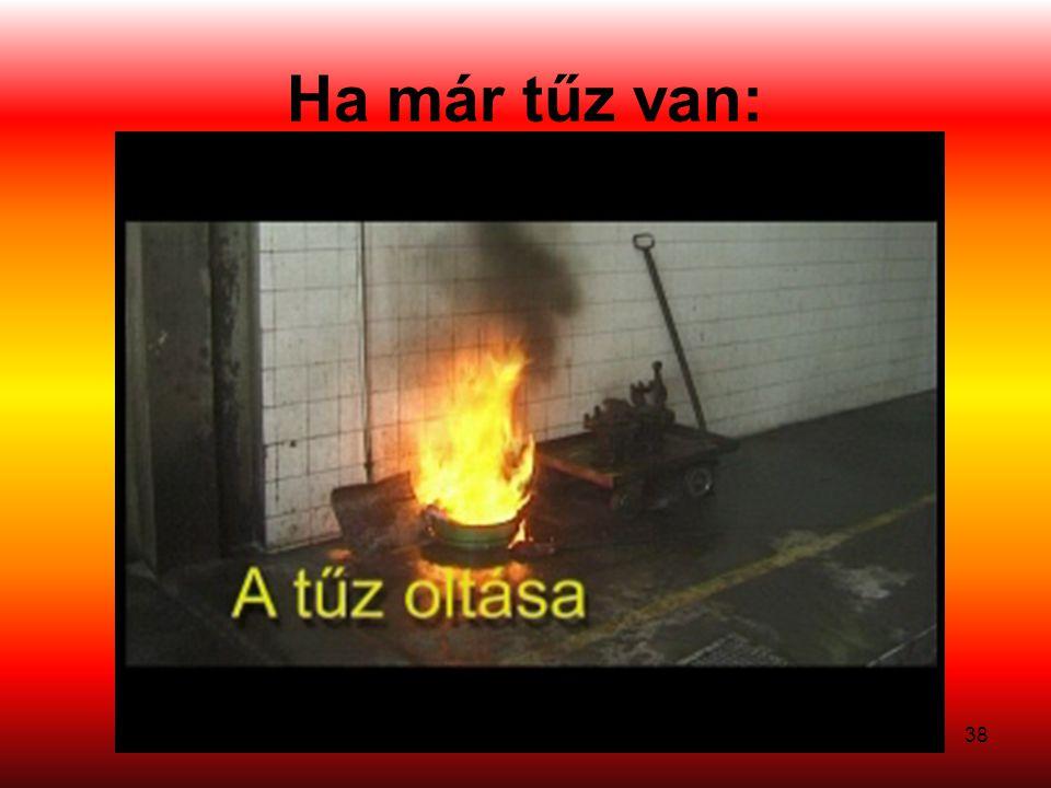 Ha már tűz van:
