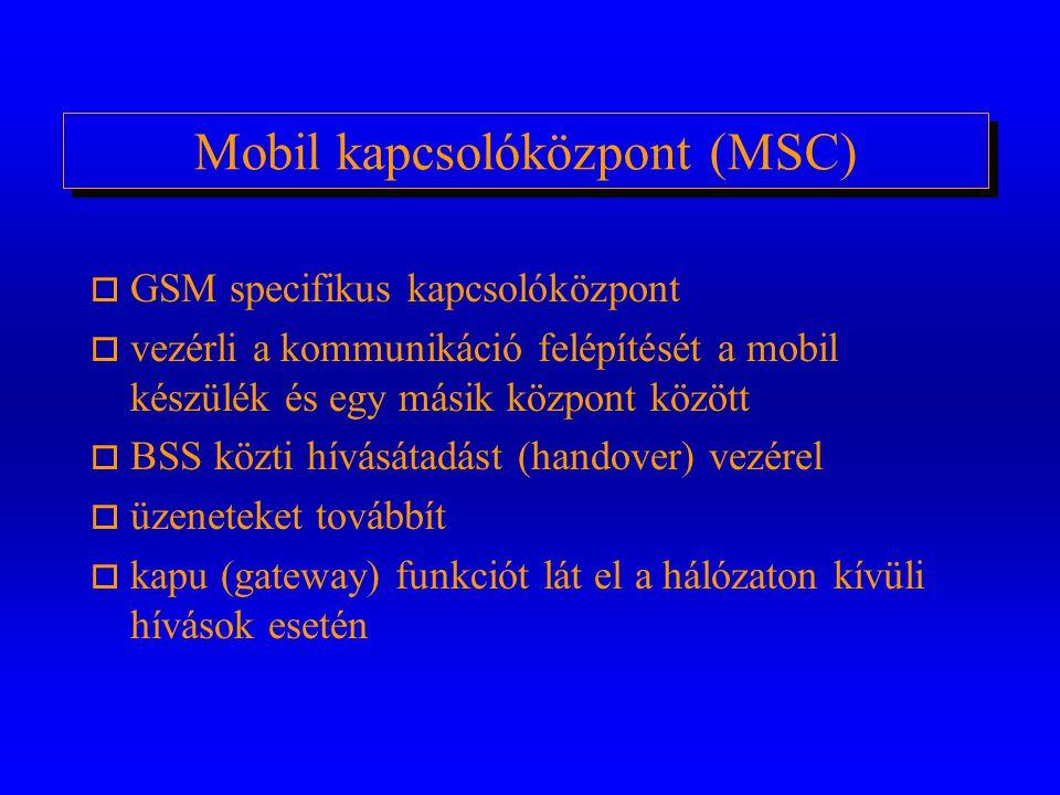 Mobil kapcsolóközpont (MSC)