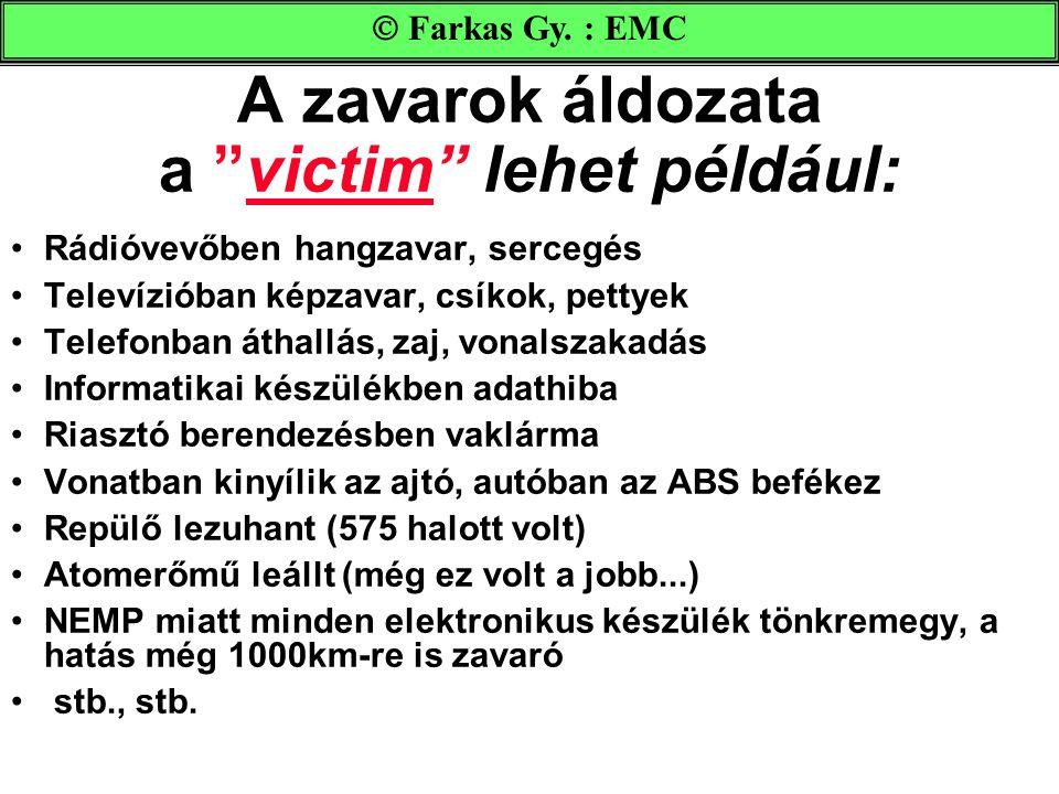 A zavarok áldozata a victim lehet például: