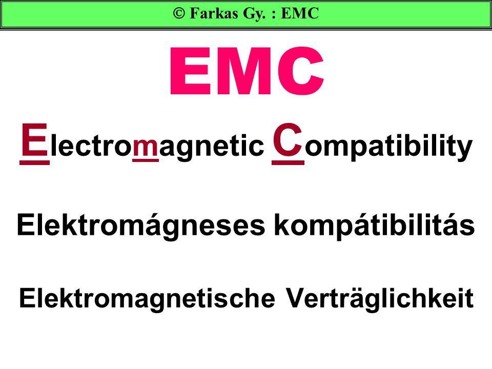 EMC Electromagnetic Compatibility Elektromágneses kompátibilitás