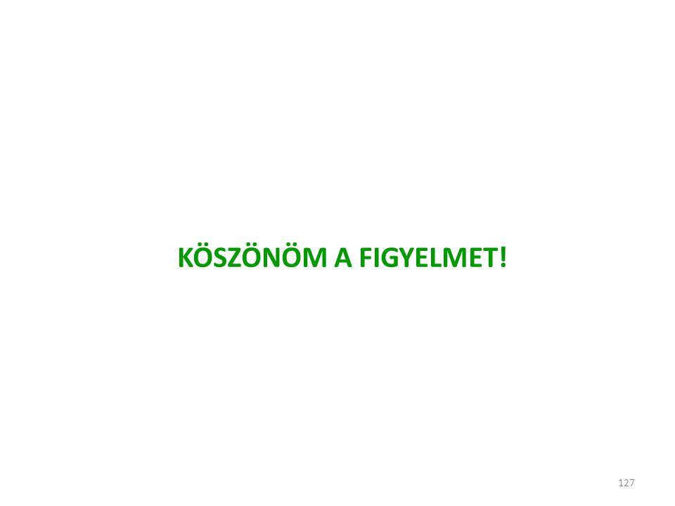 KÖSZÖNÖM A FIGYELMET! 127