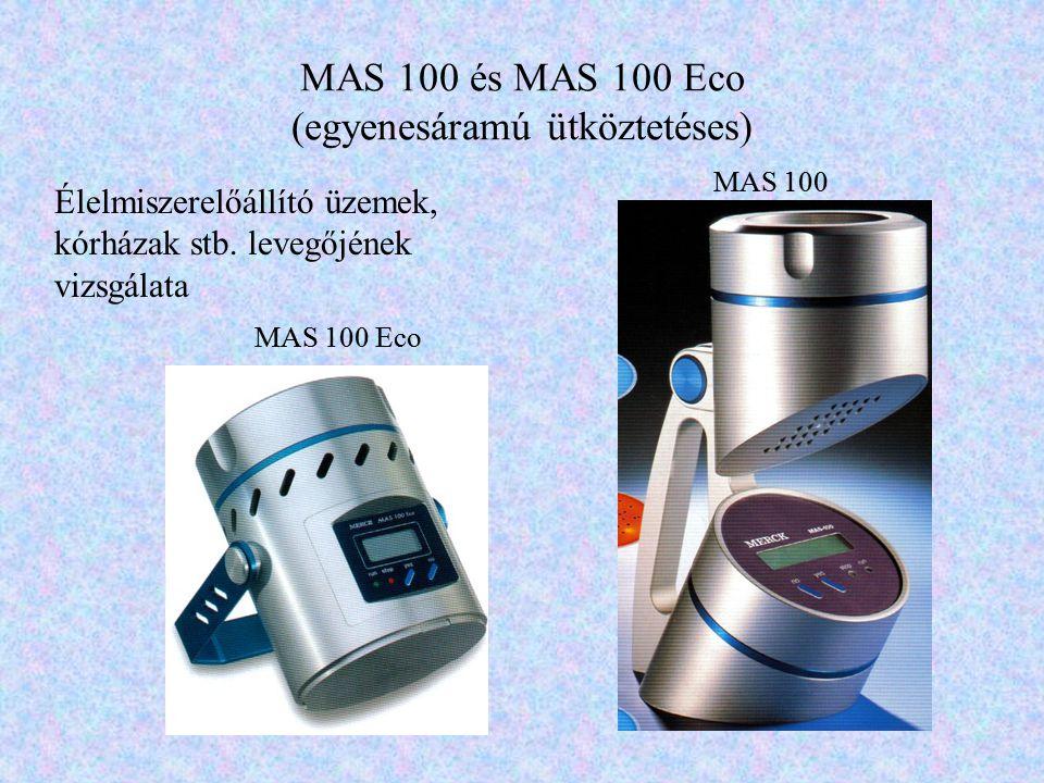 MAS 100 és MAS 100 Eco (egyenesáramú ütköztetéses)
