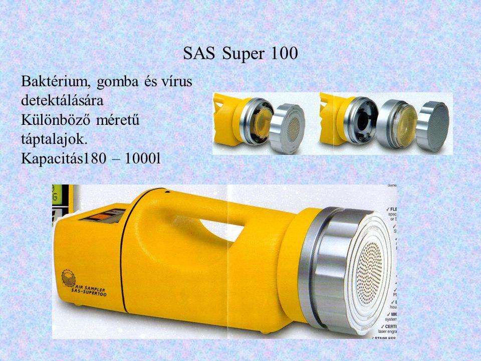 SAS Super 100 Baktérium, gomba és vírus detektálására