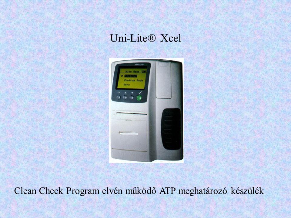 Clean Check Program elvén működő ATP meghatározó készülék
