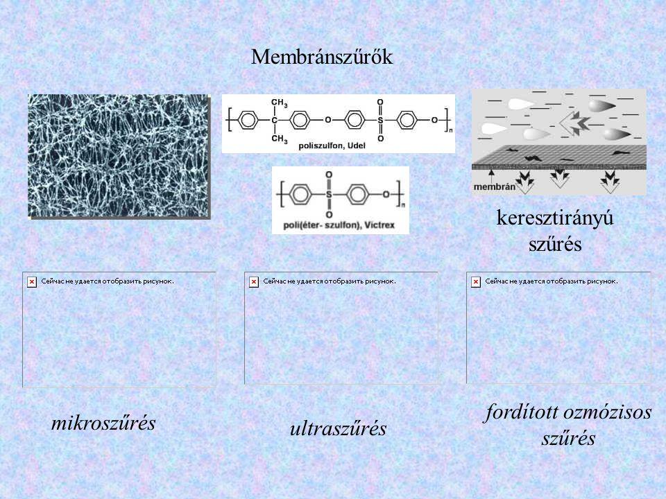 Membránszűrők keresztirányú szűrés fordított ozmózisos szűrés mikroszűrés ultraszűrés