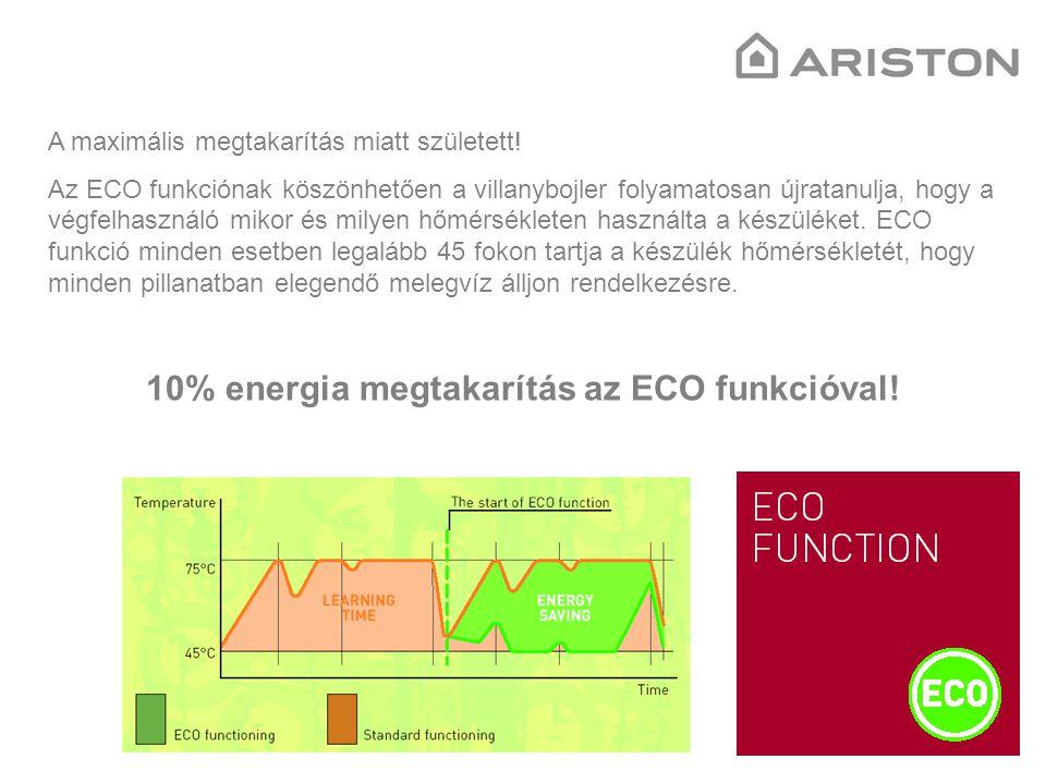 10% energia megtakarítás az ECO funkcióval!