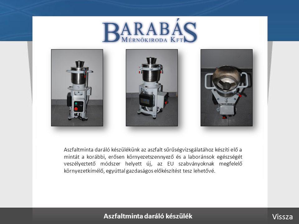 Aszfaltminta daráló készülék