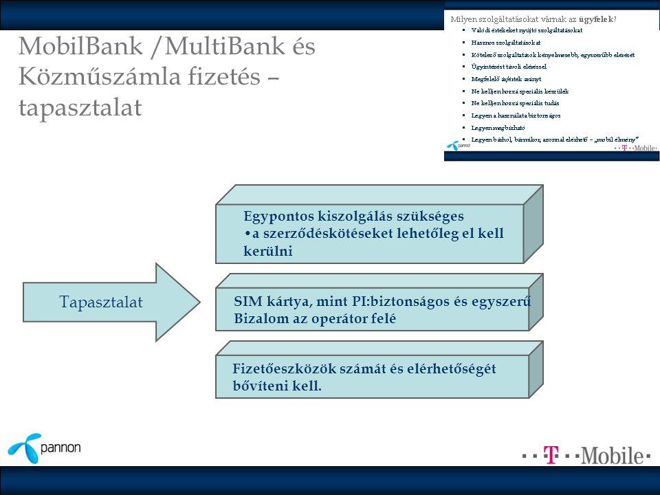 MobilBank /MultiBank és Közműszámla fizetés – tapasztalat