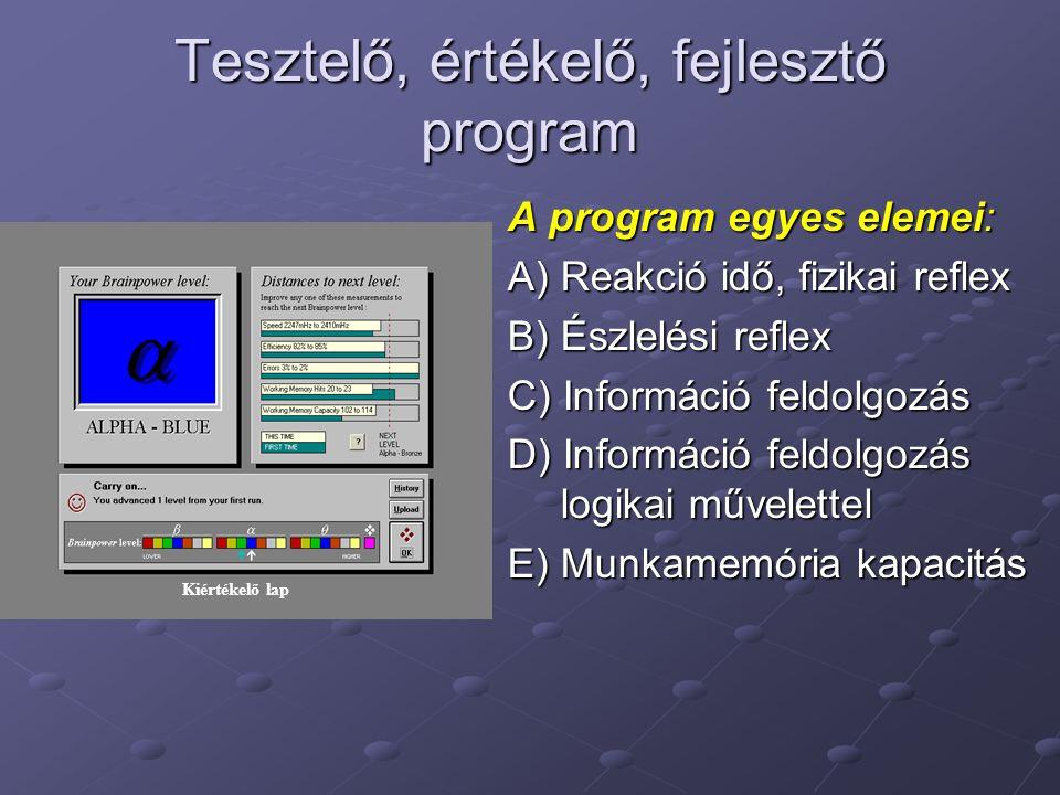 Tesztelő, értékelő, fejlesztő program