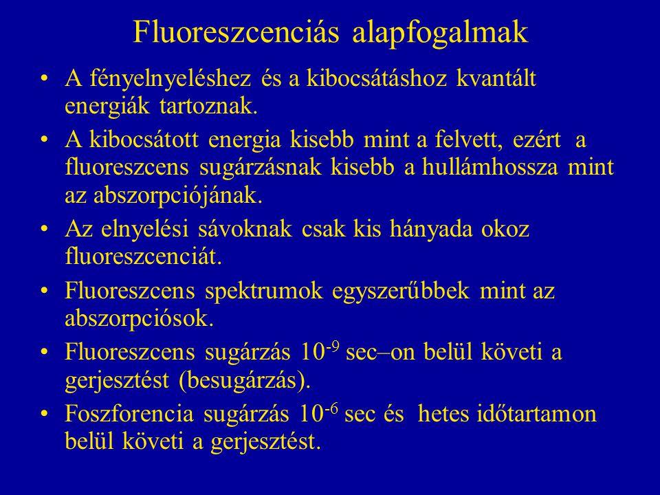 Fluoreszcenciás alapfogalmak