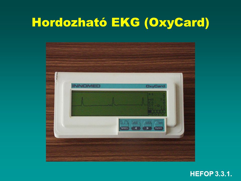 Hordozható EKG (OxyCard)