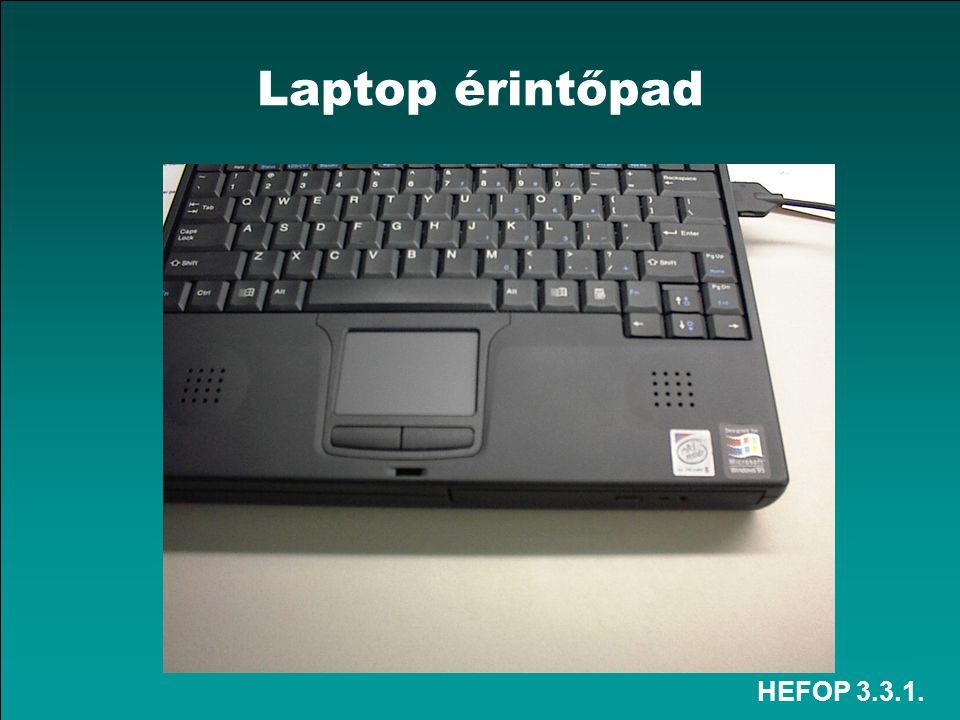 Laptop érintőpad HEFOP 3.3.1.