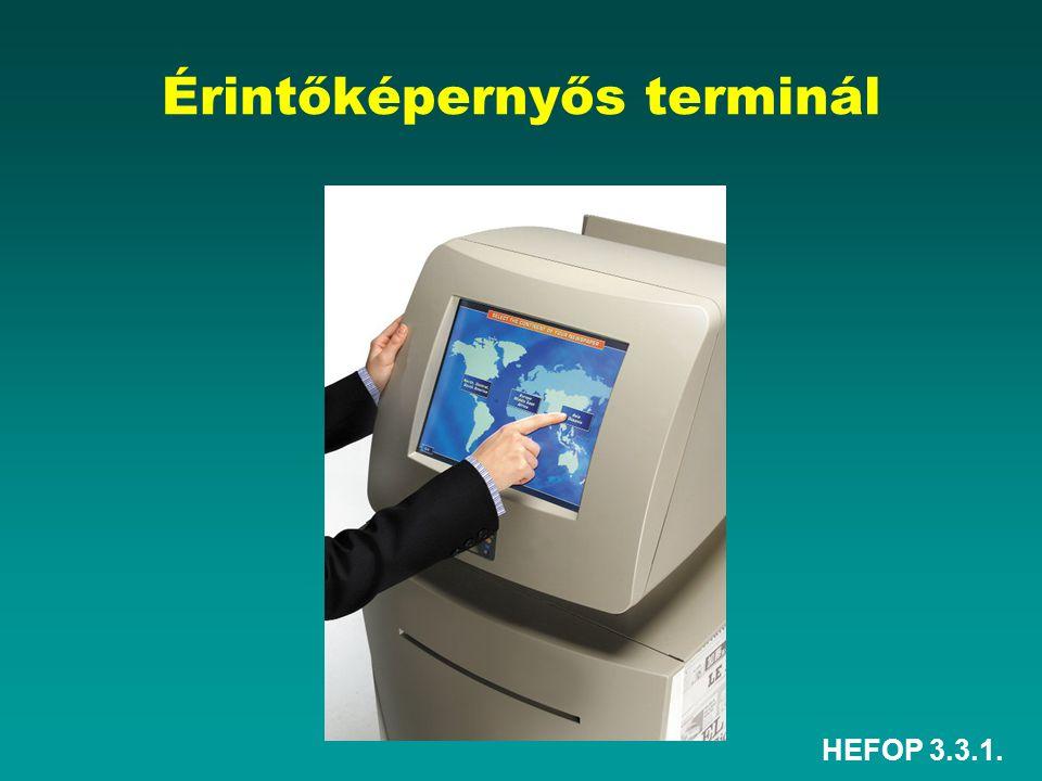 Érintőképernyős terminál