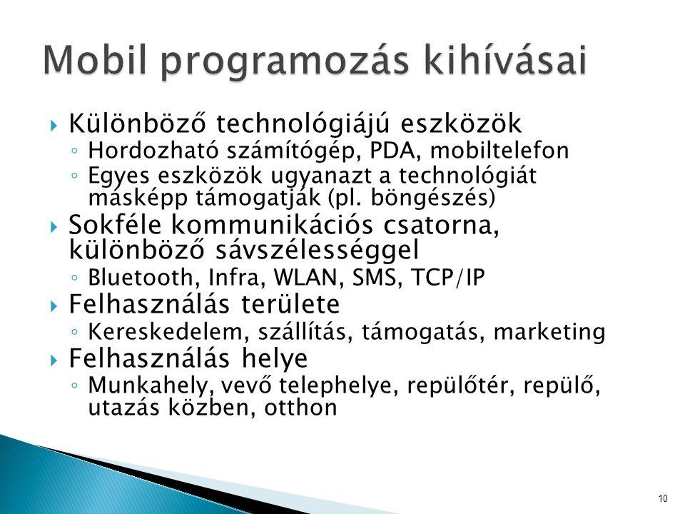Mobil programozás kihívásai