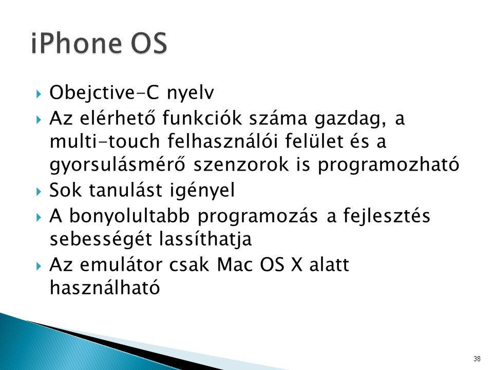 iPhone OS Obejctive-C nyelv