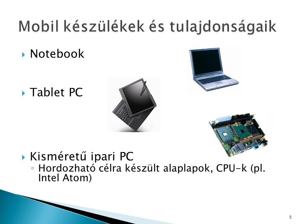 Mobil készülékek és tulajdonságaik