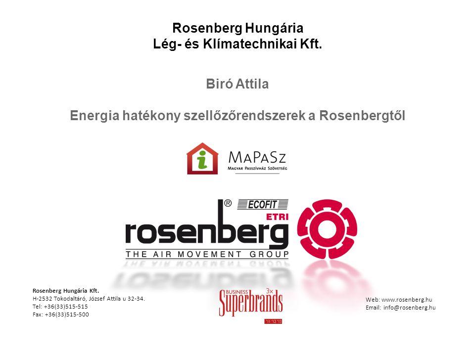 Rosenberg Hungária Lég- és Klímatechnikai Kft.
