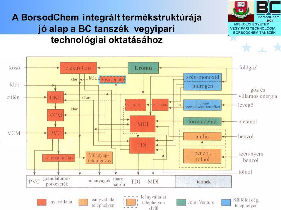 A BorsodChem integrált termékstruktúrája jó alap a BC tanszék vegyipari technológiai oktatásához