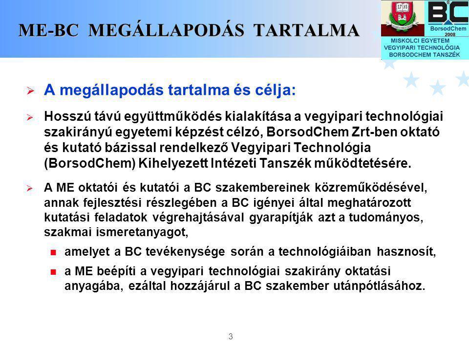 ME-BC MEGÁLLAPODÁS TARTALMA