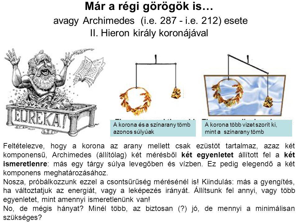 Már a régi görögök is… avagy Archimedes (i. e. 287 - i. e