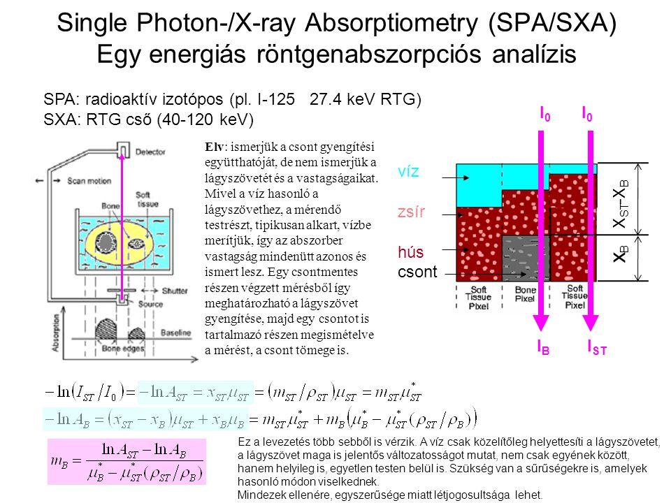Single Photon-/X-ray Absorptiometry (SPA/SXA) Egy energiás röntgenabszorpciós analízis