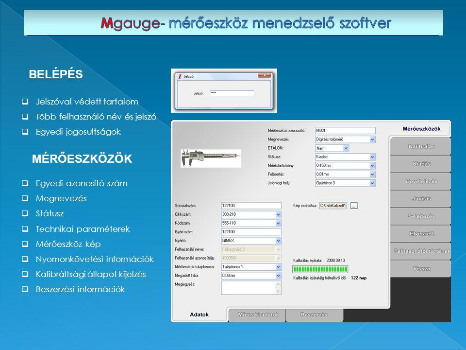 Mgauge- mérőeszköz menedzselő szoftver