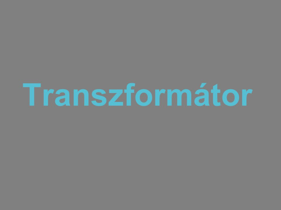 Transzformátor