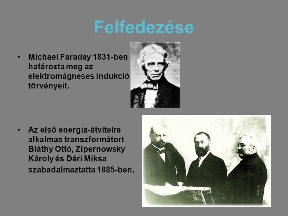 Felfedezése Michael Faraday 1831-ben határozta meg az elektromágneses indukció törvényeit.
