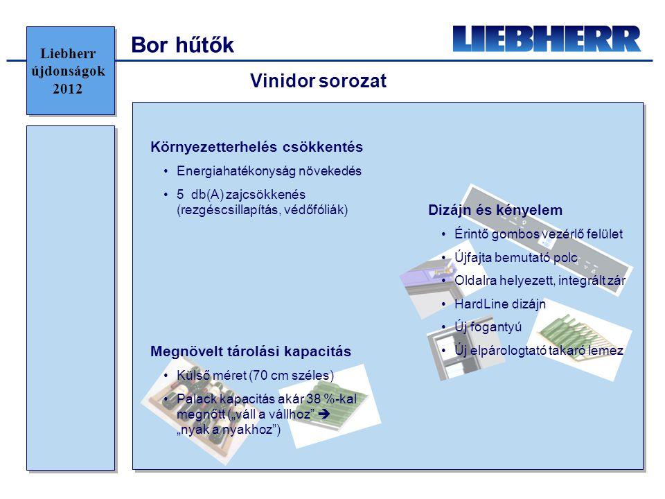 Bor hűtők Vinidor sorozat Liebherr újdonságok 2012